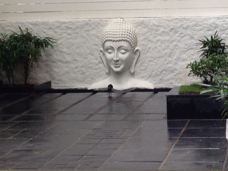 Architectural Buddha face