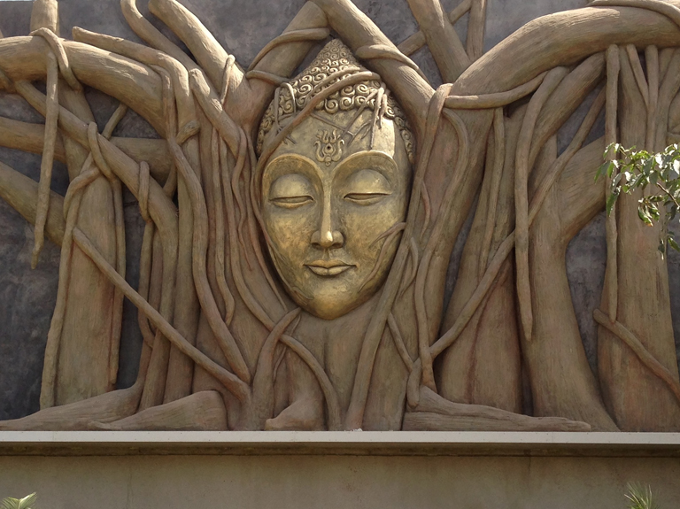 Architectural Tree-&-Buddha