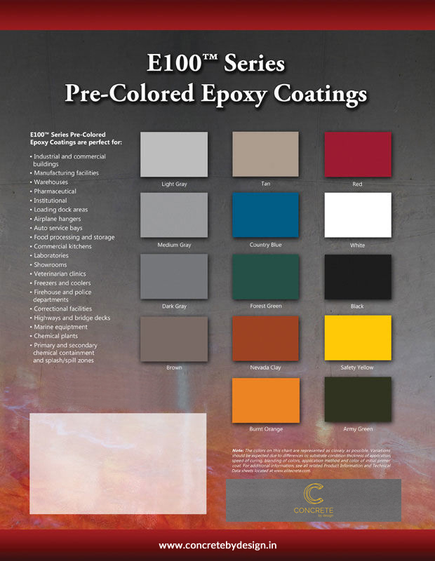 Pre-colored Epoxy Coatings